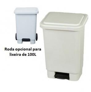 LIXEIRA RETANGULAR - COM PEDAL - 15L / 25L / 50L E 100L
